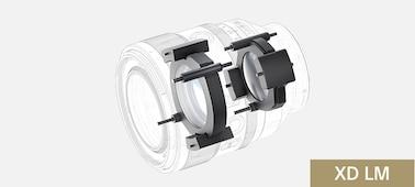 Imagen de los accionadores del motor lineal XD del lente