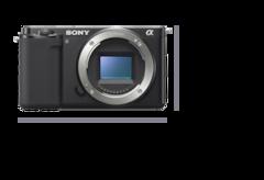 Vista frontal de la cámara con 115.2 mm de ancho (4 5/8 pulgadas) y 64.2 mm de alto (2 5/8 pulgadas)