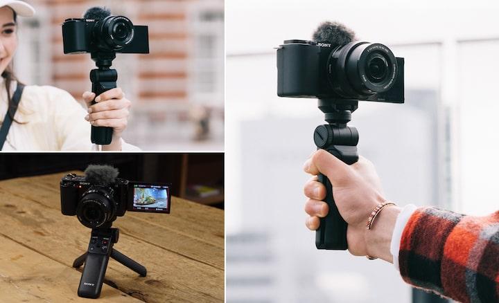 Imágenes de situación del GP-VPT2BT, utilizado para hacer selfis y grabar desde posiciones altas y bajas