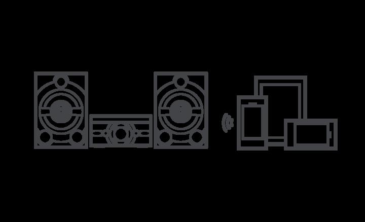 Sistema de bocinas con karaoke de 3 unidades con
